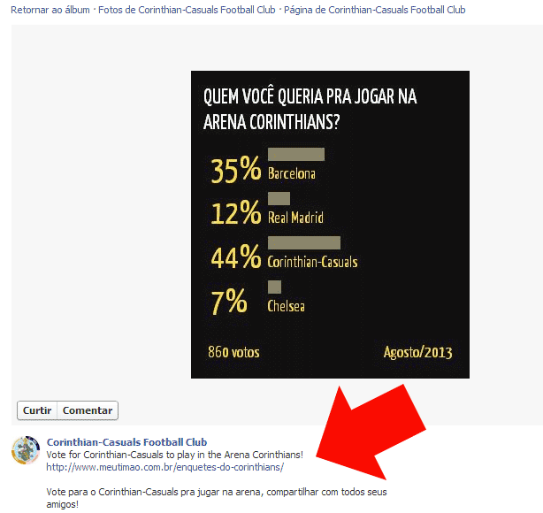 Facebook do Corinthian-Casuals
