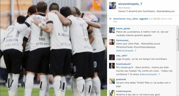 Instagram do Alexandre Pato