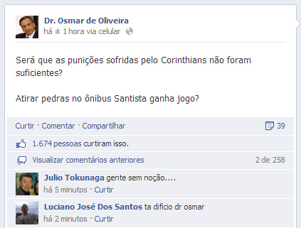 Facebook do Dr. Osmar