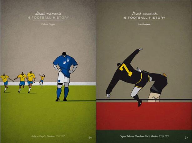 Baggio e Cantona
