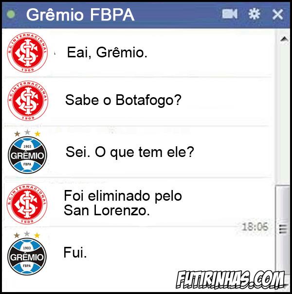 Gr�mio eliminado na Libertadores