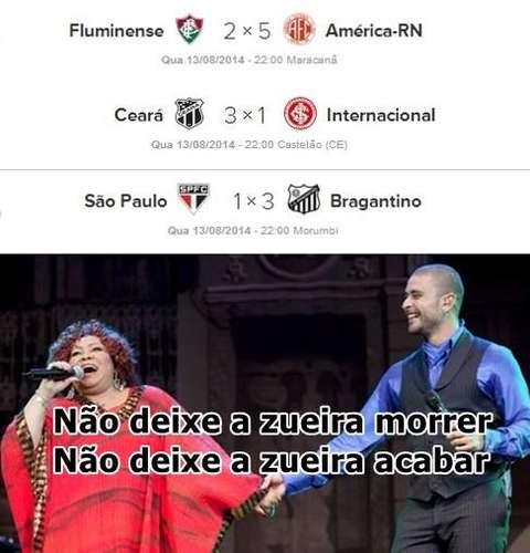 Zoeira São Paulo - Inter - Fluminense