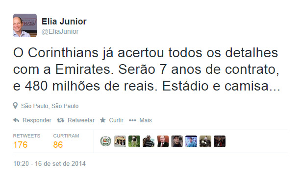 Elia Junior - Naming Rights da Arena Corinthians