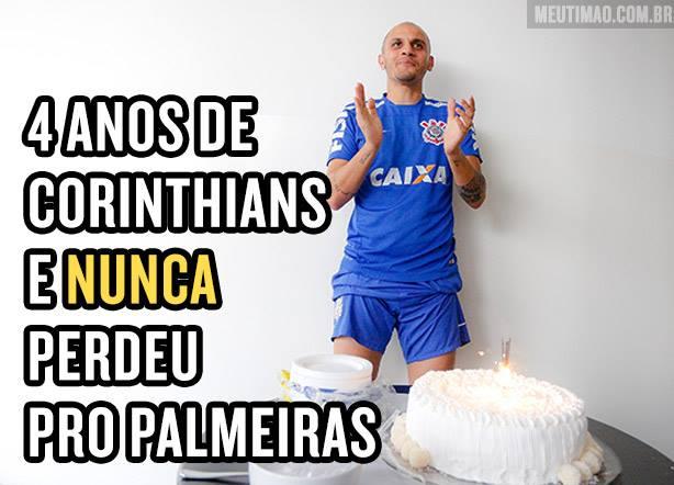F�bio Santos contra o Palmeiras
