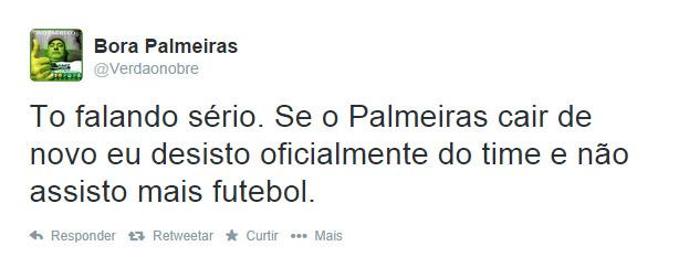 Promessas se o Palmeiras cair