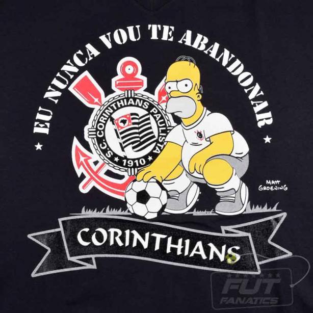 1bd6c1b3d4 Camisas dos Simpsons e Corinthians