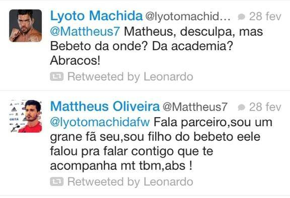 Lyoto Machida trolla jogador do Flamengo