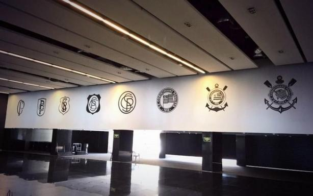 Os 8 símbolos do Corinthians no saguão do estádio