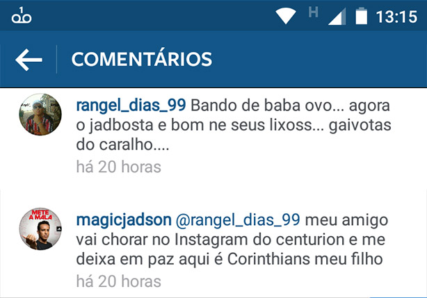 Jadson trollando no Instagram