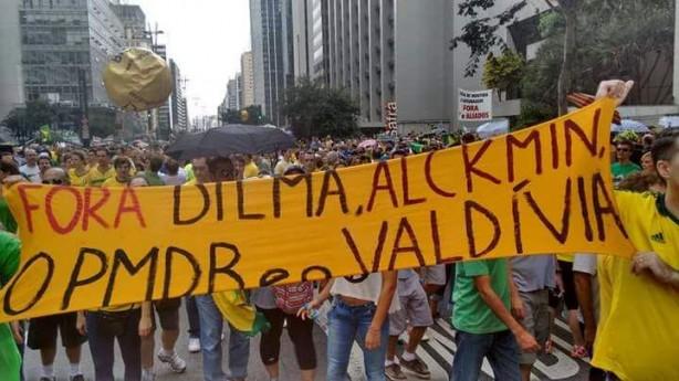 Palmeirenses na Avenida Paulista