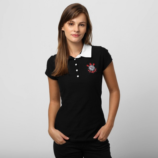 Camisa Polo Corinthians Black In Black