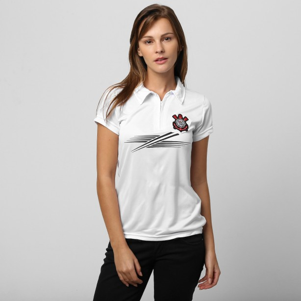 Camisa Polo Corinthians Fast Lines