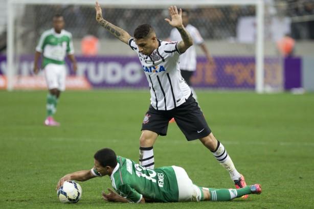 Guerrero Jogando contra o Palmeiras