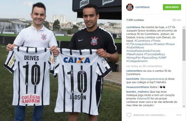c659b537da Timão promove encontro entre  camisas 10  no CT Joaquim Grava