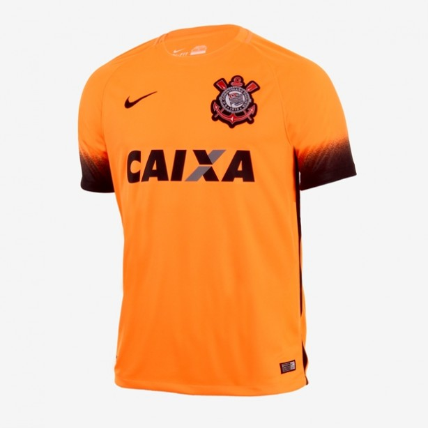 Camisa Nike Corinthians Terceiro Uniforme Laranja Masculino 937a5157b8c00