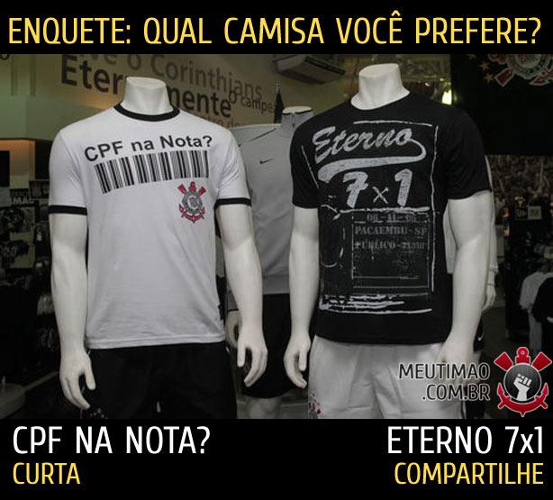 Camisa do Corinthians zuando o São Paulo e o Santos