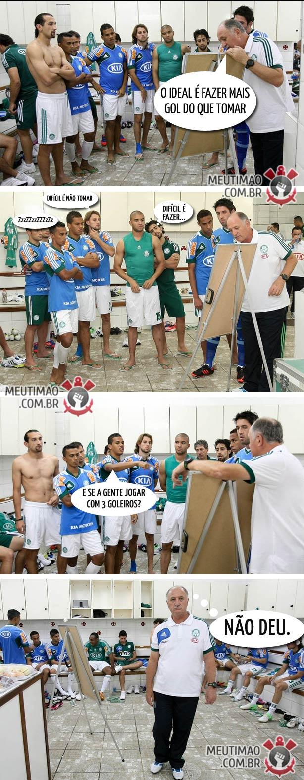 Discussão no vestiário do Palmeiras