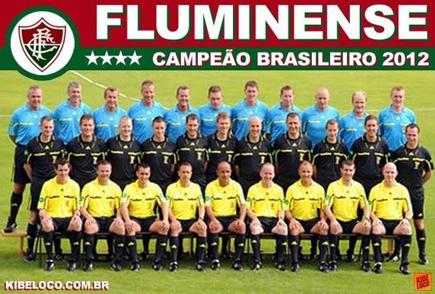 Fluminense já tira foto como campeão brasileiro 2012
