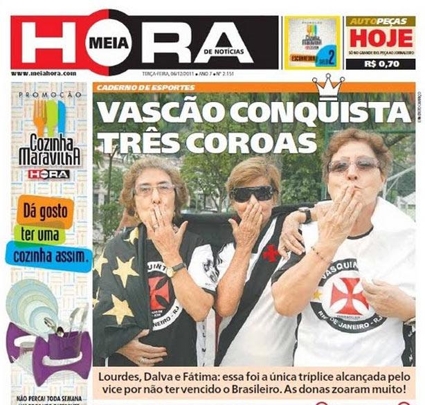 Jornal Meia Hora alopra os Vascaínos