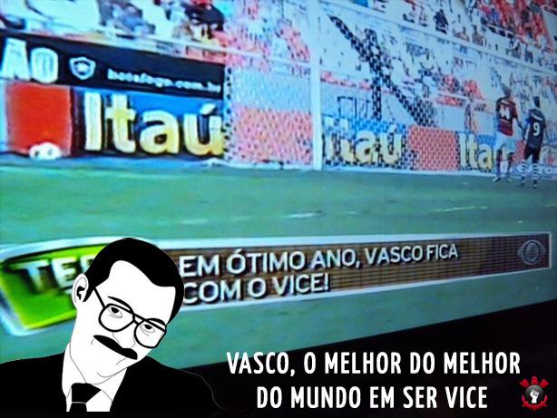 Vasco, o melhor em vice campeonatos