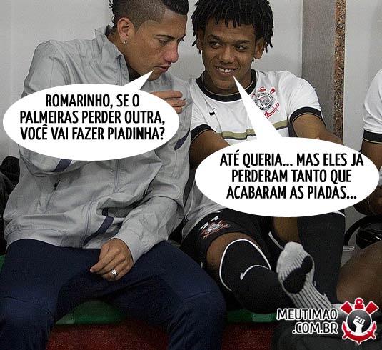 Romarinho e Ralf decidem não zuar o Palmeiras