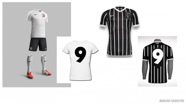 Uniformes para o Corinthians (Montagem) e9f52b7dbaa34