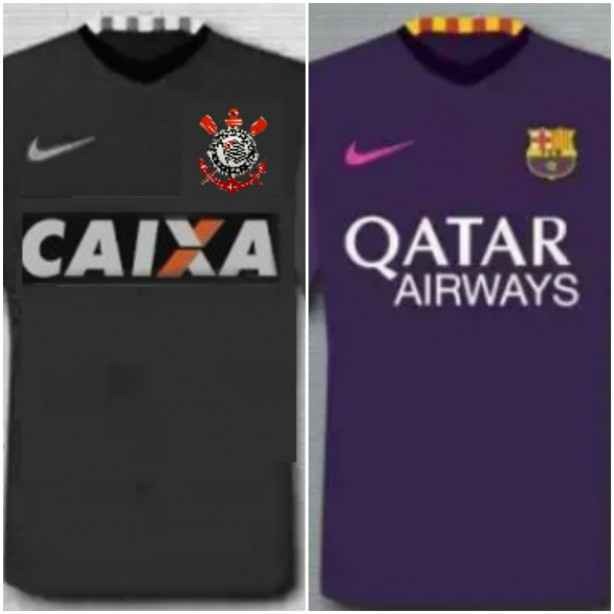 Camisa Corinthians II 2016 2017 baseada na nova camisa do Barcelona 459383a6cdf34