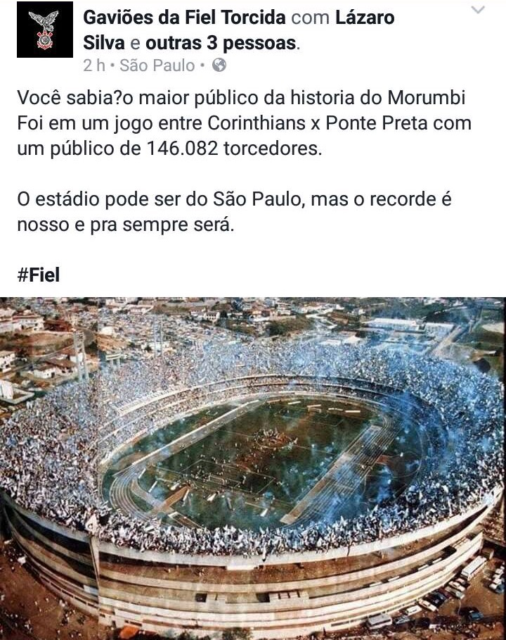 Maior público da história do Morumbi (imagem)