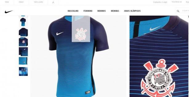 Camisa do Corinthians II 2017 Nike - Masculina 1bf22933aa6e2a  http www.nike.com.br  SCCP-M-SS-3RD- ... e00af150ebd50