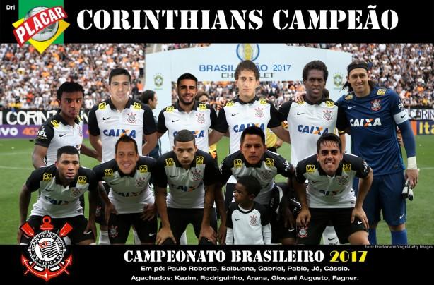 Resultado de imagem para foto do time do corinthians campeão brasileiro 2017