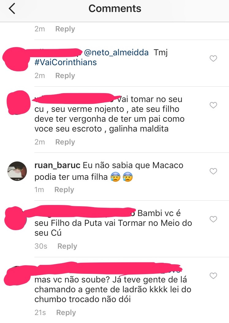 Atitude desprezível no Instagram do Kazim