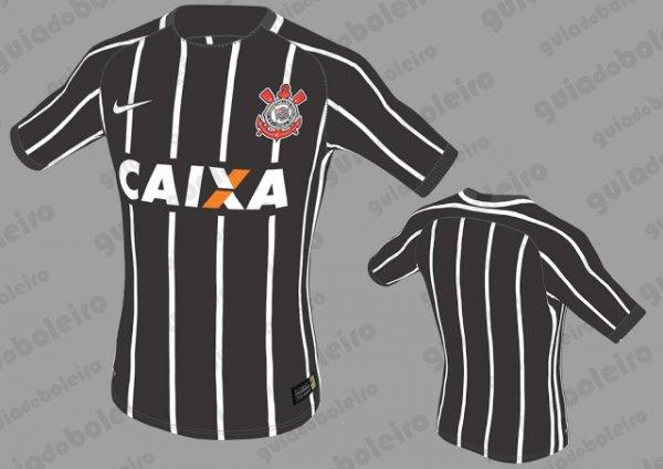 Já a camisa reserva do Timão deve ter design muito parecido com a camisa da  conquista do Campeonato Paulista de 1977 7ccb3de402c2e