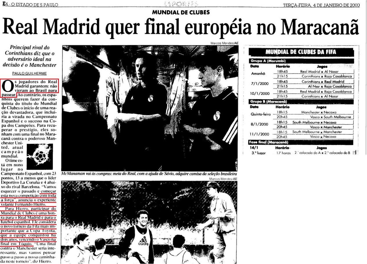 Europeus não levaram a sério o Mundial de 2000 . Segura essa então kkkkk dac00b63a1140