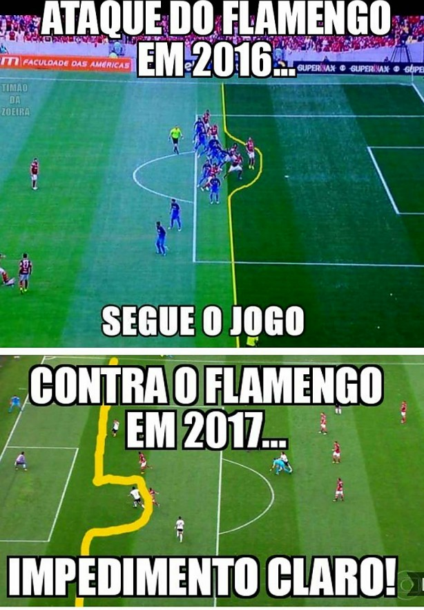 Contra o Flamengo é normal... Foto de 2016 e 2017