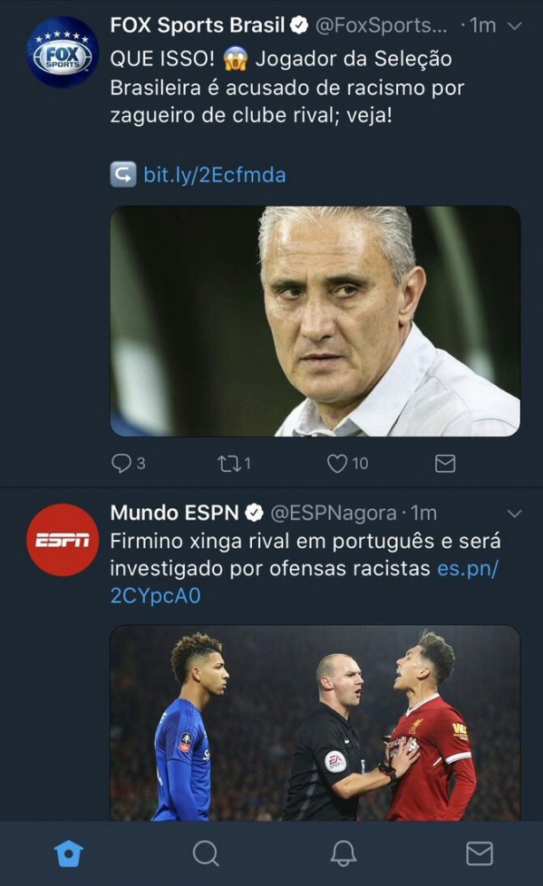 Off: O jornalismo da Fox Sports...
