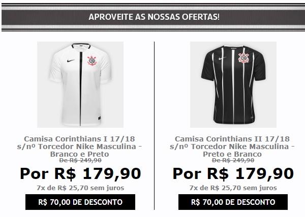 0cee1c6f58 Compre Camisa Corinthians I 17 18 s nº Torcedor Nike Masculina - Branco ...