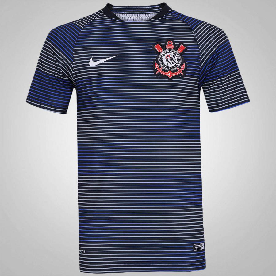 e29ee69bab2ba A Camiseta Pré-Jogo do Corinthians Nike Flash 2016  isso msm