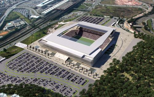 O est�dio ser� constru�do ao lado da esta��o Corinthians-Itaquera do metr�