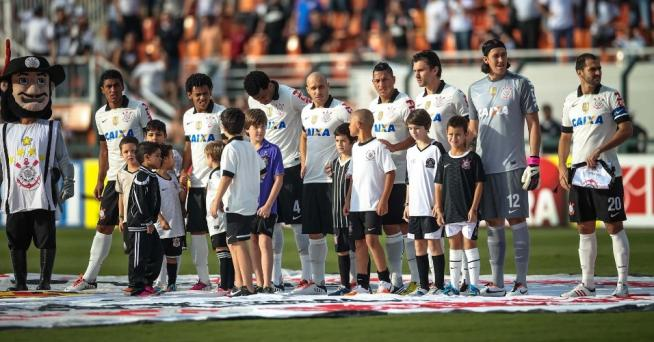 Time do Corinthians antes do in�cio da partida