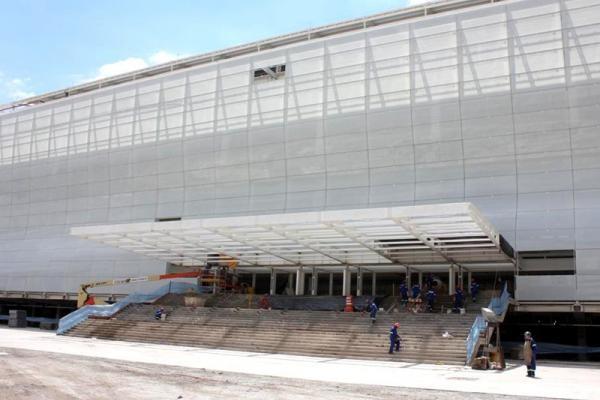 Entrada principal da Arena Corinthians