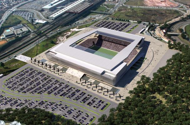 Maquete do est�dio do Corinthians