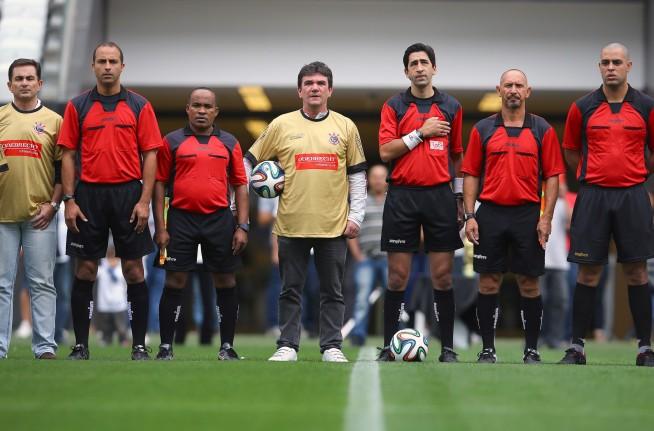 O primeiro jogo da Arena Corinthians