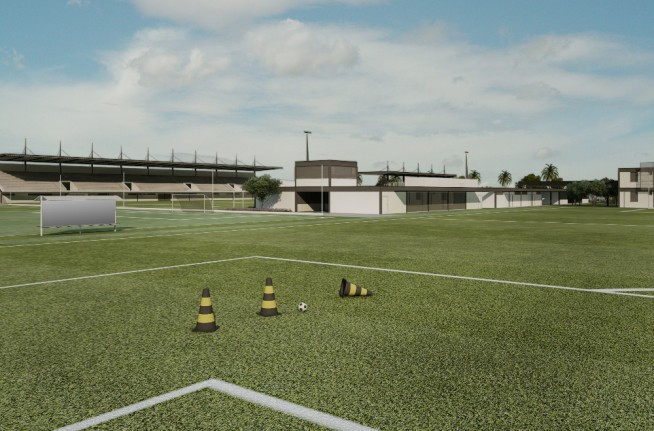 Proje��o do novo CT da base do Corinthians
