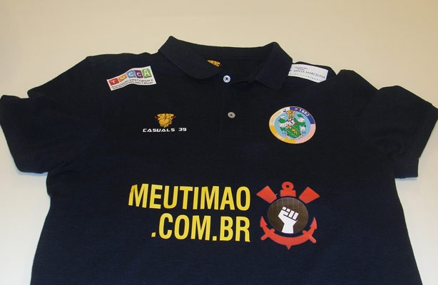 Camisa do Corinthians-Casual com o logo do Meu Timão