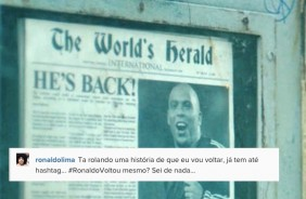 Em poss�vel a��o de marketing, Ronaldo brinca com sua volta no Twitter