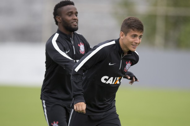 Cassini no treino do Corinthians