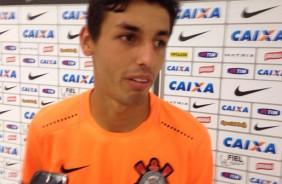 Com camisa da sorte, Marciel comemora gol e t�tulo em Itaquera