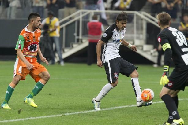 Romero marcou o último gol da goleada do Timão sobre o Cobresal
