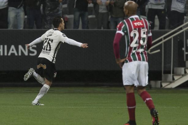 Rodriguinho fez o gol do Corinthians contra o Fluminense