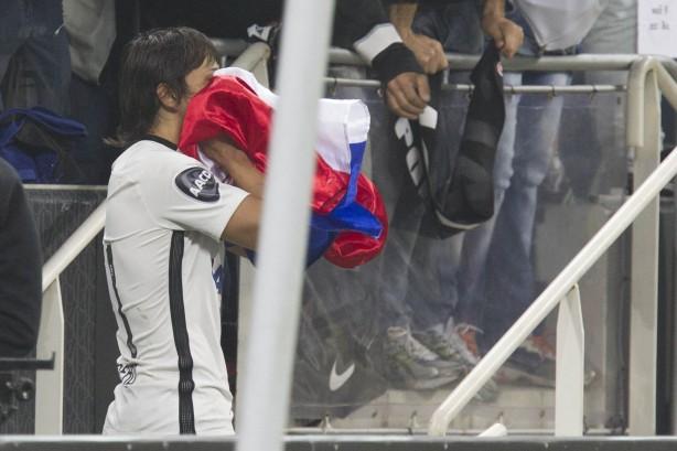 Romero comemora gol e fim da zica na Arena Corinthians